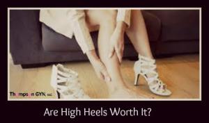 heels with logo